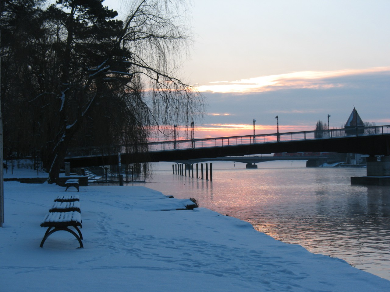 Constance, bicycle bridge
